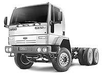 Novo Cargo 6332e 6x4 ganhou suspens�o refor�ada e pneus apropriados, que garantem peso bruto total de 30,5 toneladas (Divulga��o)